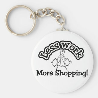 Less work, more shopping T-shirts and Gifts. Basic Round Button Key Ring