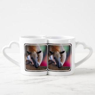 lesser-anteater-6 couples' coffee mug set