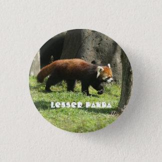 Lesser panda 3 cm round badge