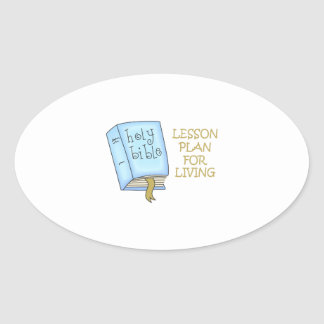 LESSON PLAN FOR LIVING OVAL STICKER