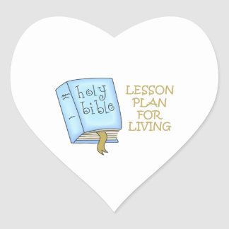 LESSON PLAN FOR LIVING HEART STICKERS