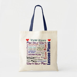Lesson Plan Pouch Budget Tote Bag