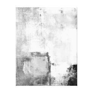 Lessons Black and White Abstract Art Canvas Print
