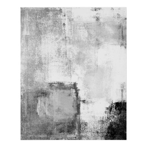 'Lessons' Black and White Abstract Art Poster