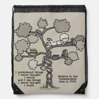 Lessons Learned Drawstring Bag