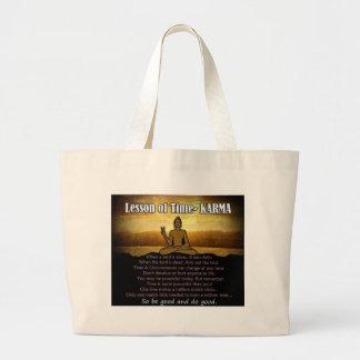 Lessons of Time_Karma Jumbo Tote Bag