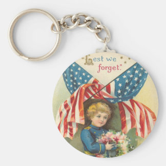 Lest We Forget Memorial Day Keychains