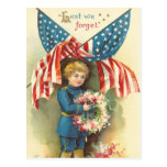Lest We Forget Memorial Day Postcard