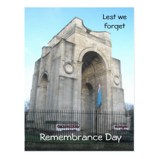 Lest we forget Remembrance Day Postcard