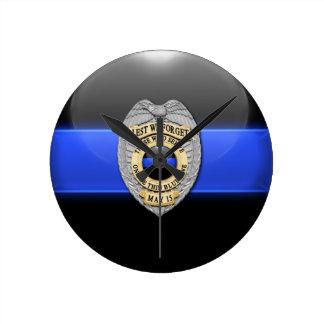 Lest We Forget - Thin Blue Line Badge Clock