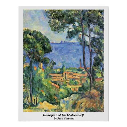 L'Estaque And The Chateaux D'If By Paul Cezanne