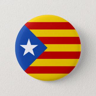 """""""L'Estelada Blava"""" Catalan Independence Flag 6 Cm Round Badge"""