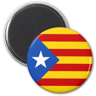 """""""L'Estelada Blava"""" Catalan Independence Flag 6 Cm Round Magnet"""