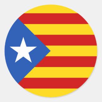 """""""L'Estelada Blava"""" Catalan Independence Flag Classic Round Sticker"""