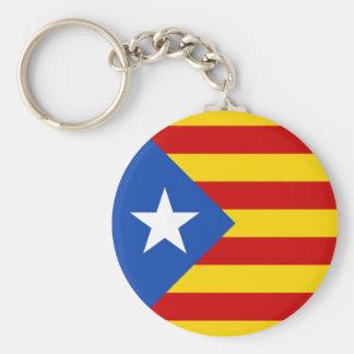 """L'Estelada Blava"" Catalan Independence Flag Basic Round Button Key Ring"