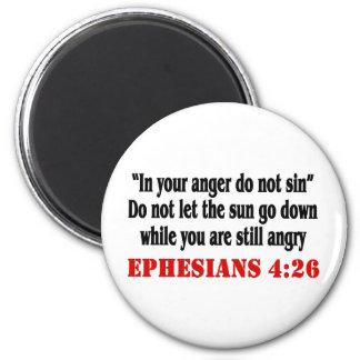 Let Anger Go 6 Cm Round Magnet