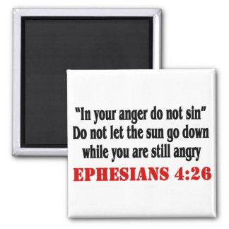 Let Anger Go Square Magnet