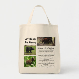 Let Bears Be Bears Bag