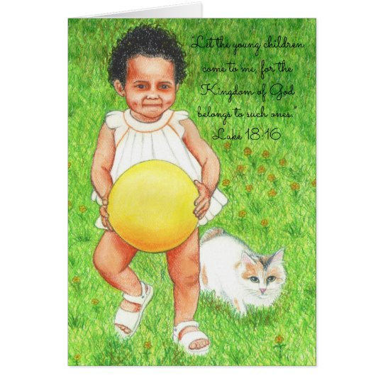 Let Children Come to Me~Scripture Card