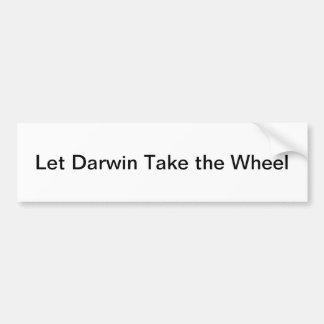 Let Darwin Take the Wheel Bumpersticker Bumper Sticker