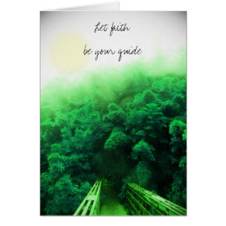 """Let Faith Be Your Guide"" Card - Bamboo Forest"