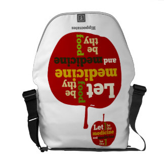 Let Food be thy Medicine, and Medicine be thy Food Courier Bags