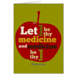 Let Food be thy Medicine APPLE Greeting Card