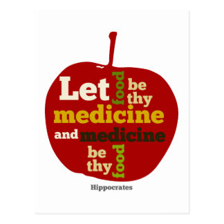 Let Food be thy Medicine APPLE Postcard