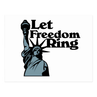 Let Freedom ring for the USA lady liberty Postcard