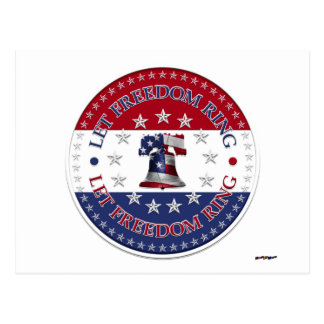 Let Freedom Ring Liberty Bell 13 50 Stars round Post Cards