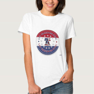 Let Freedom Ring Liberty Bell 13 & 50 Stars round Tee Shirt