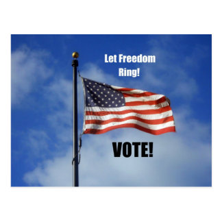 Let Freedom Ring VOTE Post Cards