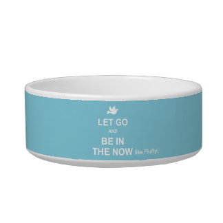 Let go and be in the now - Spiritual quote - Blue Bowl