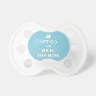 Let go and be in the now - Spiritual quote - Blue Dummy