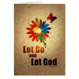 Let Go and Let God (12 step recovery program) Note Card