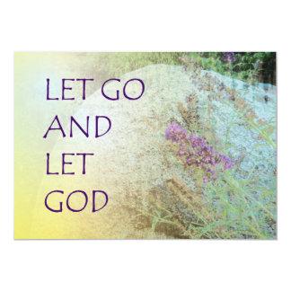 Let Go and Let God Boulder and Butterfly Bush 13 Cm X 18 Cm Invitation Card