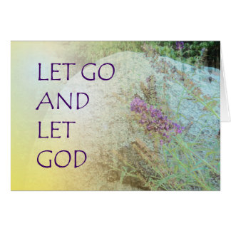 Let Go and Let God Boulder and Butterfly Bush Note Card