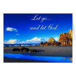 Let go and let God. Greeting Card