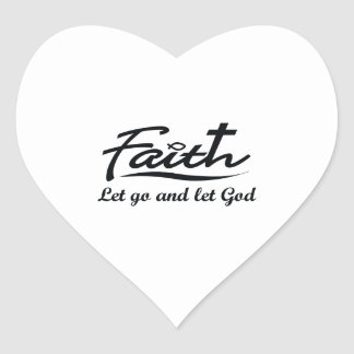 LET GO AND LET GOD HEART STICKER