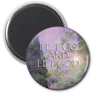 Let Go and Let God Lilacs Tree 2 Magnet