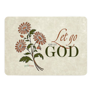 Let Go and Let God (Recovery Quotes) 13 Cm X 18 Cm Invitation Card