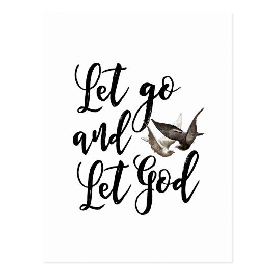 Let go and let God scripture quote postcard