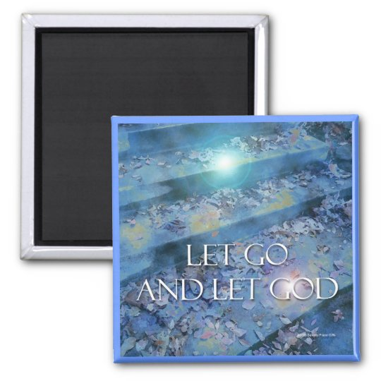 Let Go and Let God Steps & Leaves Magnet