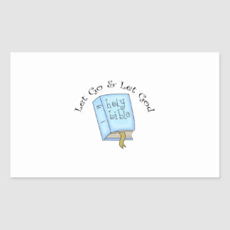 LET GO AND LET GOD RECTANGULAR STICKERS