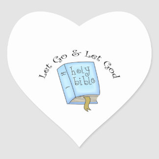 LET GO AND LET GOD HEART STICKERS