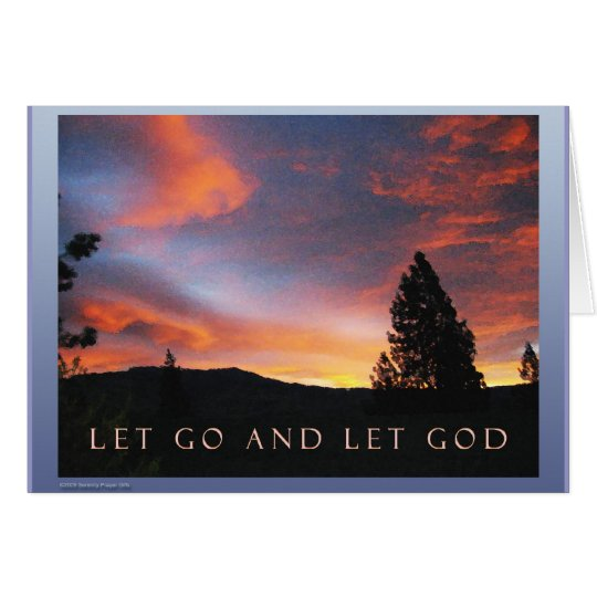 Let Go and Let God Sunrise Card