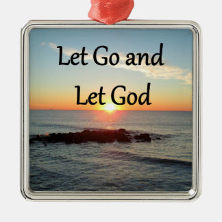 LET GO AND LET GOD SUNRISE PHOTO CHRISTMAS ORNAMENT
