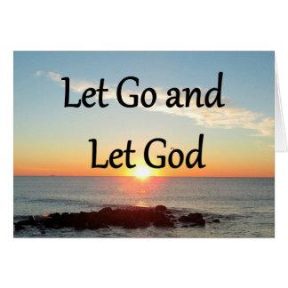 LET GO AND LET GOD SUNRISE PHOTO NOTE CARD