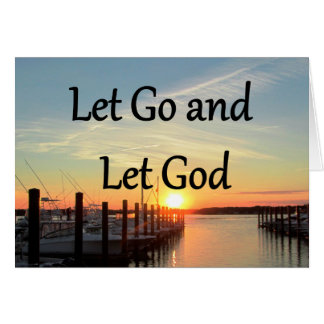 LET GO AND LET GOD SUNSET NOTE CARD