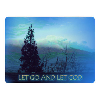Let Go and Let God Tree and Hills 17 Cm X 22 Cm Invitation Card